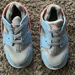 Grey blue and pink nike